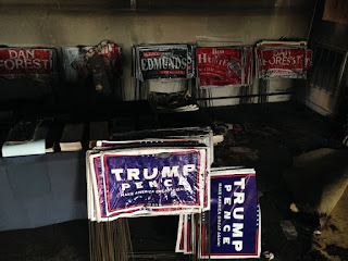 North Carolina G.O.P. Building Is Firebombed