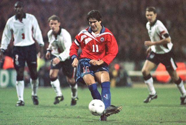 Inglaterra y Chile en partido amistoso, 11 de febrero de 1998