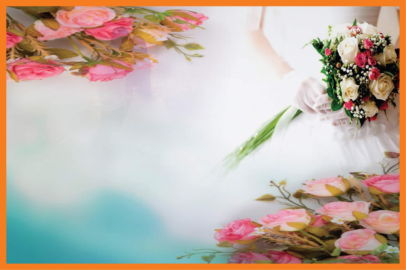 Wedding Reception Banner And Gaye Holud Banner Background Hd