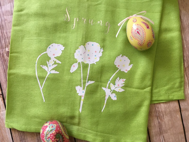 Have you tried the new Patterned Iron On™ from Cricut? I am using it to customize a plain kitchen towel for Spring!