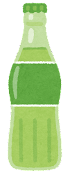 瓶に入った飲み物のイラスト(緑)