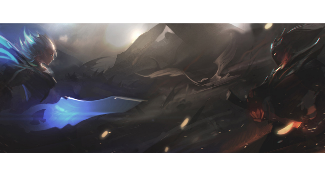 Oh Look Its Angel Blade Riven And Demon Yasuo