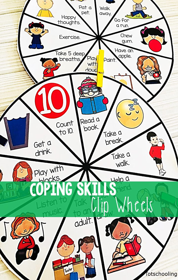 FREE behavior management clip wheel for kids to develop social skills and learn how to cope with big emotions. Great for the classroom or at home!