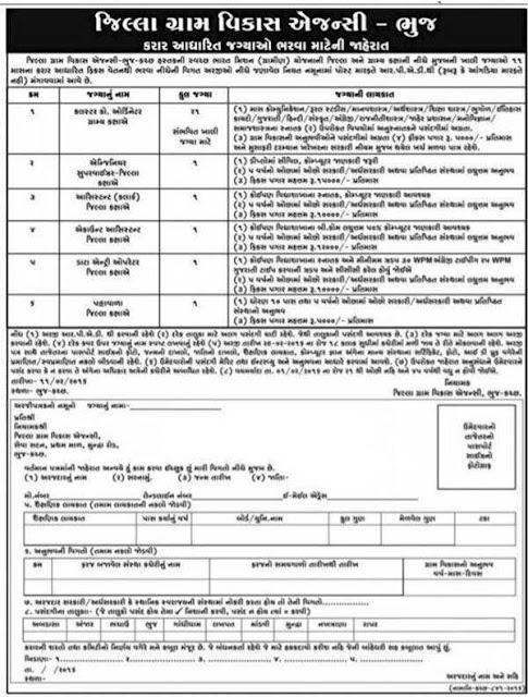 District Rural Development Agencies Bhuj Recruitment 2016