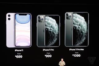 تعرف على أسعار  الهواتف أيفون 11، أيفون 11 برو وأيفون 11 برو ماكس