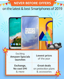 Amazon Great Indian Festival mobile phones Offer 25th September, 2019