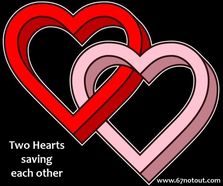 Love Each Other When Two Souls: 67 Not Out: Heart Saving Coincidences