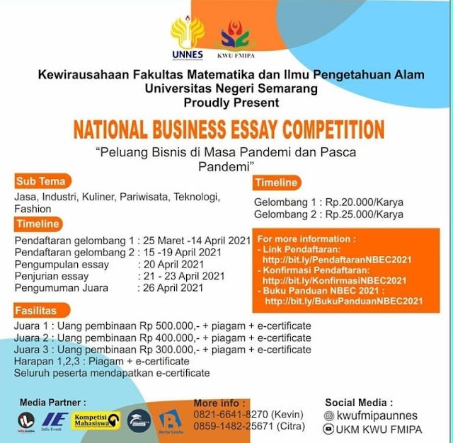 NATIONAL BUSINESS ESSAY COMPETITION (NBEC) 2021