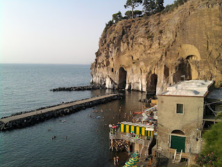 The bathing area at Piano di Sorrento, the viillage where Achille Lauro was born