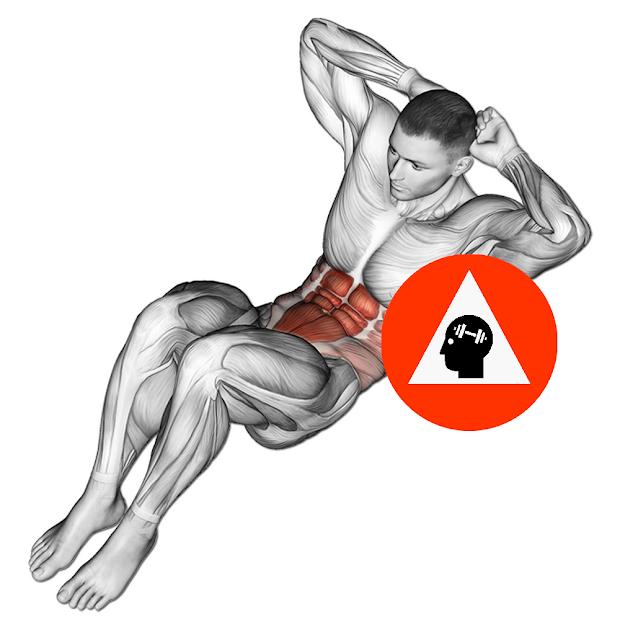 exercice musculation abdos crunchs pieds au sol