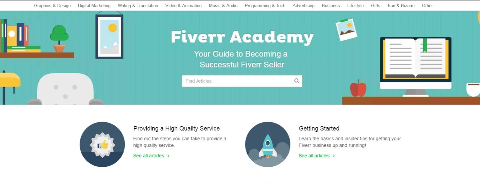 Maka Ada Baiknya Membaca Dulupulan Artikel Artikel Dasar Di Fiver Academy Atau Paling Tidak Mengutak Atik Dulu Website Fiverr Dan Melihat Bagaimana