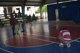 Dirección provincial deportes Samaná y Alcaldía de Sánchez remodelan polideportivo municipal