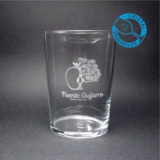 """Vaso de sidra personalizado con logotipo de sidra del sur """"FUENTE GUIJARRO"""""""