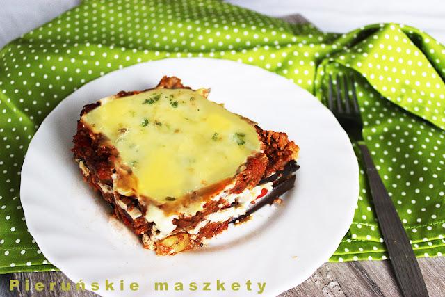 lasagne z bakłażana i mięsa mielonego