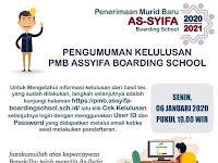 Lihat Disini Pengumuman Kelulusan PMB AsSyifa Boarding School 2020/2021