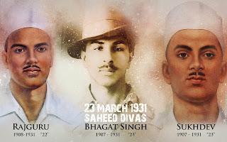 bhagat singh martydom images