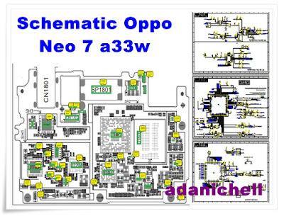 Schematic Oppo Neo 7 a33w Terlengkap Full Jalur