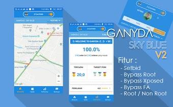 Share Mod Gojek Driver Ganyda Sky Blue v2 Tampilannya Semakin Kece! by Ganyda