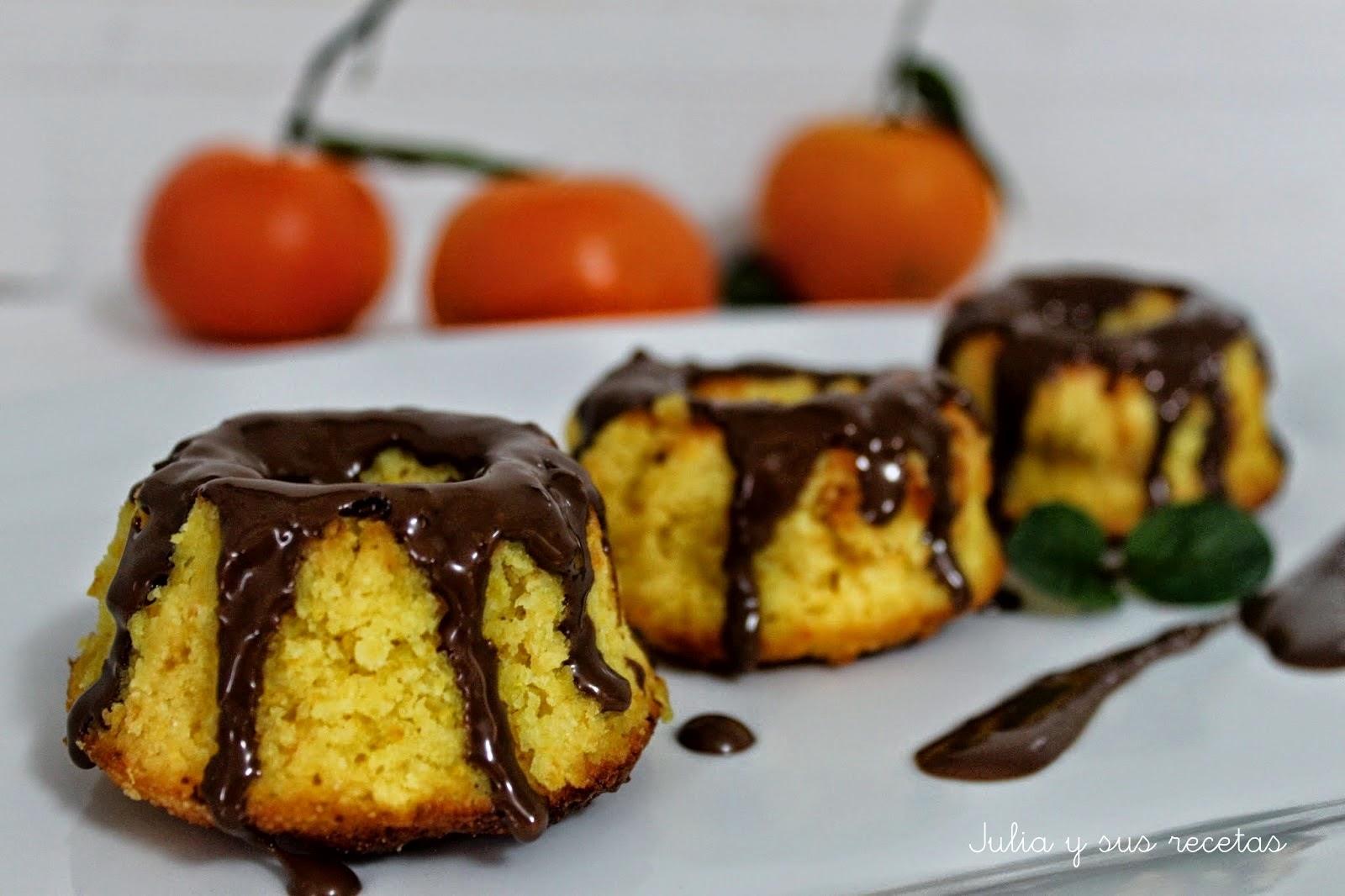 Bizcochitos de naranja, chocolate y almendra. Julia y sus recetas