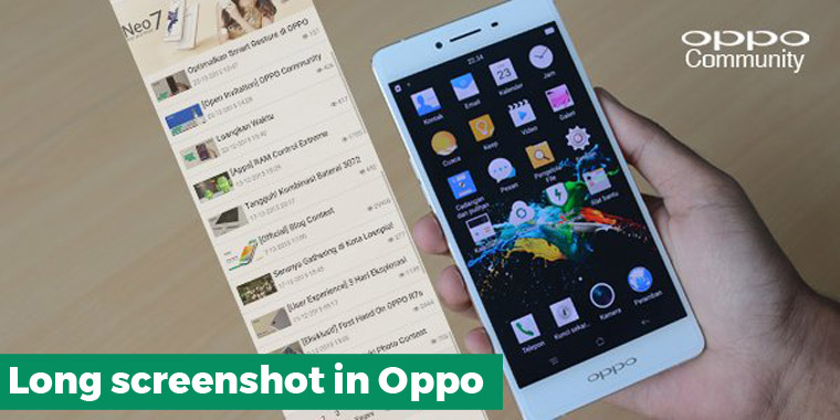 Cara screenshot halaman panjang/long screenshot di hp Oppo
