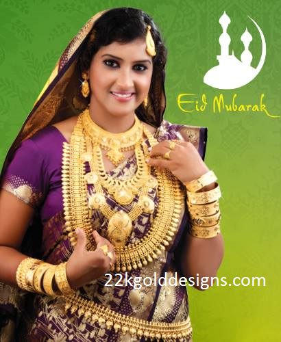 Kerala Muslim Bride Wedding Gold Jewellery