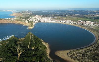 Imagem aérea de São Martinho do Porto – Portugal
