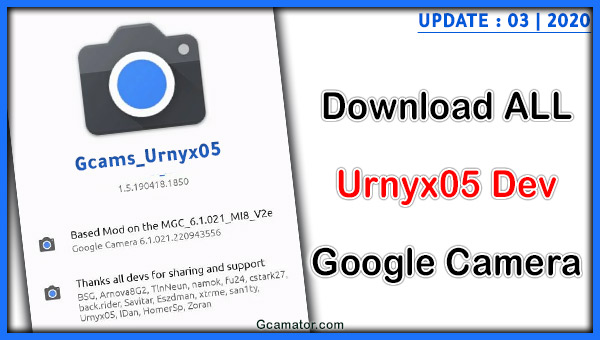 Google Camera Urnyx05 apk download