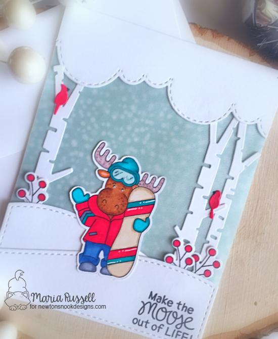 Make the Moose Out of Life Card by Maria Russell | Moose Mountain Stamp Set by Newton's Nook Designs #newtonsnook #handmade