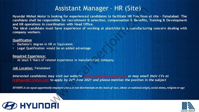 Hyundai Pakistan Jobs June 2021