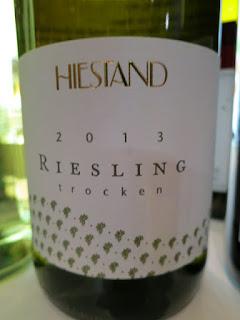 Hiestand Riesling Trocken 2013 - Qualitätswein, Rheinhessen, Germany (88 pts)
