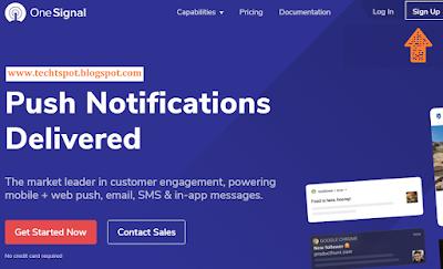 Set Up Free Web Push Notifications for Blogger blog 1