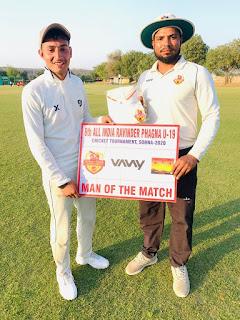 दा क्रिकेट गुरुकुल ने एल बी शास्त्री क्रिकेट क्लब को 7 विकेट से हराया