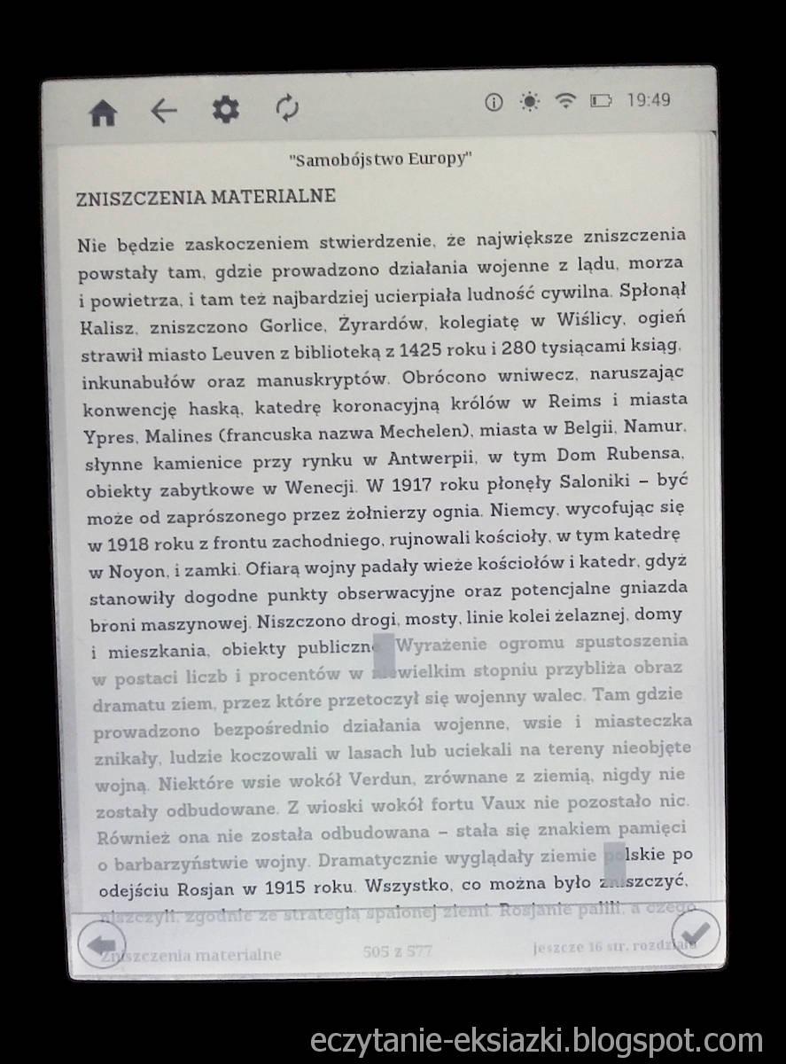 InkBOOK LUMOS – dodawanie cytatu w aplikacji Legimi ebooks