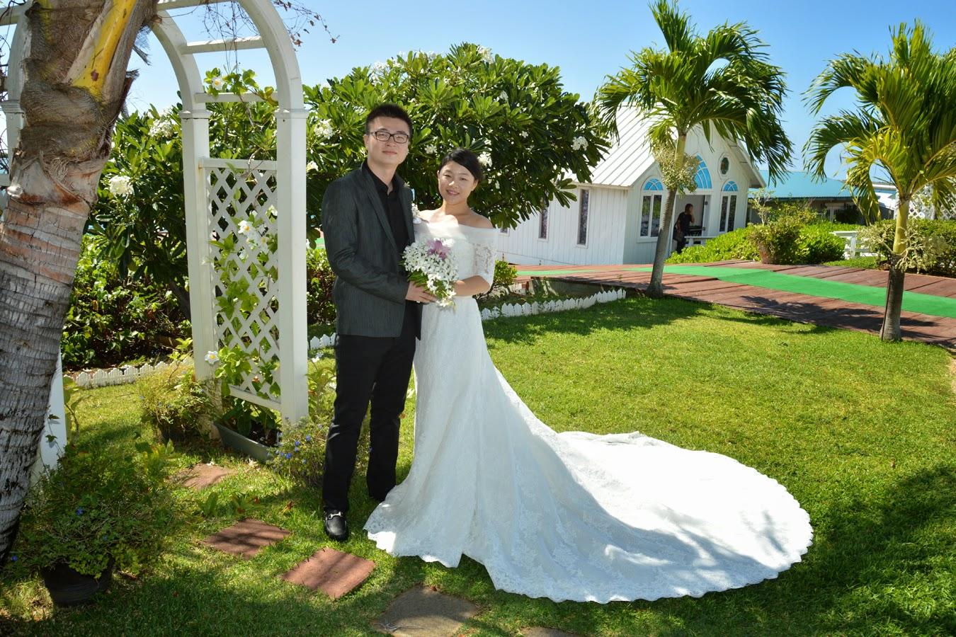 Hawaii Wedding Chapel: Couple from China