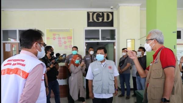 Cek RSUD Pemalang, Ganjar: Rumah Sakite Aja Kemproh