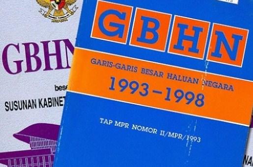 Definisi Pengertian dan Sistematika GBHN 1993