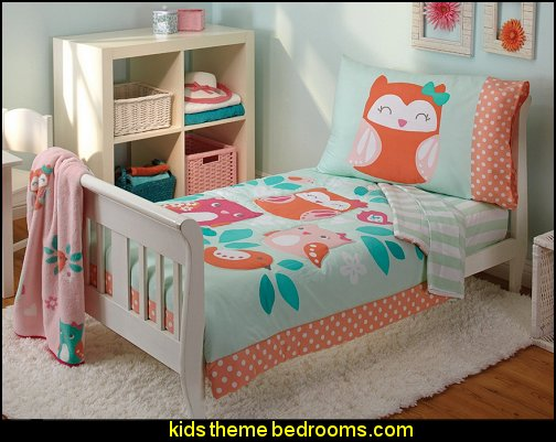 Too Cute To Hoot Toddler bedding Set