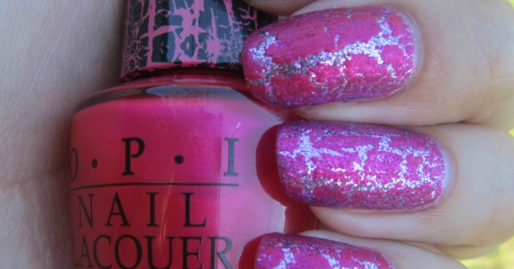 Concrete And Nail Polish Opi Pink Shatter Two Looks