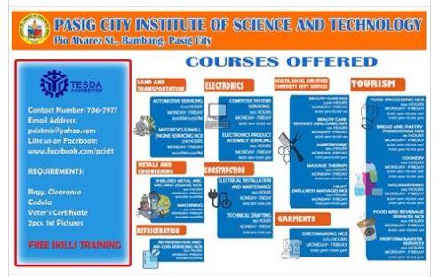 Free Tesda skills training, 20+ courses offered