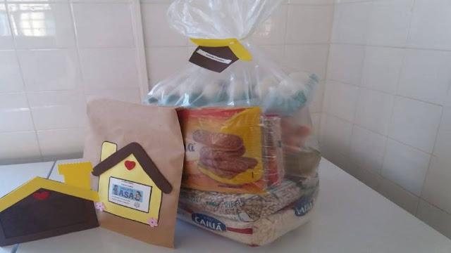Projeto Asa entrega cesta de alimentos e atividades lúdicas para os atendidos