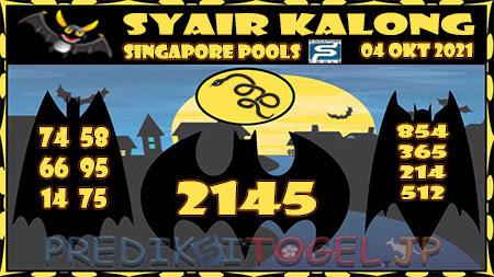 Kalong SGP Senin 04 Oktober 2021