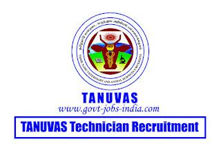 TANUVAS Technician Recruitment 2020