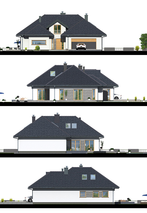 "Bungalow houses are a smaller version of the popular crafts person style. They're commonly square in floor plan or deeper than they are wide, making them perfect for small urban lots. Bungalow houses are also perfect for empty settlers, with bedrooms and living space all on one level.  Take a look at this free house floor plan for your reference and ideas.  ""Advertisements""    HOUSE FLOOR PLAN 1         Specifications: Beds: 2 Baths: 1 Floor Area: 96 sq.m. Lot Size: 227 sq.m. Garage: 1  Source: pinoyhouseplans.com   HOUSE FLOOR PLAN 2                ELEVATIONS:          GENERAL INFORMATION: building area 184.1 m² usable area 114.8 m² surface of all rooms 148.9 m² building volume 923 m³ volume of heated rooms 394 m³ height of the building 6.19 m Angle of inclination of the roof thirty minimum dimensions of the plot 24.65m x 25.08m  Source: projektydp.pl  ""Advertisements""  HOUSE FLOOR PLAN 3             High rise house 5 bedrooms 2 bathrooms No parking Total living space 160.00 sq.m. Building width 12.00 m. Depth building 16.00 m Number of pillar 28  HOUSE FLOOR PLAN 4               Single storey house  2 bedrooms  1 bathroom  No parking Total living space 98.00 sq.m. 7m wide building Building depth of 14.00 m.  Source: http://www.thaidrawing.com    ""Sponsored Links""               GENERAL INFORMATION:  Building area 198 m² Usable area 164.1 m² Surface of all rooms 284.3 m² Building volume 1140 m³ Volume of heated rooms 627.1 m³ Height of the building 7.13 m Angle of inclination of the roof 35 ° Minimum dimensions of the plot 23,45m x 23,65m  TECHNOLOGY: External walls ceramic hollow + styrofoam (silicates, aerated concrete) Ceiling reinforced concrete slab Heating gas boiler or solid fuel Roof Ceramic or cement tile or metal roof tile  SOURCE: http://projektydp.pl  RELATED POSTS:   Single Story Modern House Plan Build On 99.44 Square Meters Above  Are you looking for the best modern house plans in which to live a modern life? Choosing a home can be an intimidating task, especially if you want it to be yours forever. The modern house is designed to be energy and surroundings friendly. Get inspiration and ideas from this free house floor plan for you.   Are you looking for the best modern house plans in which to live a modern life?  Choosing a home can be an intimidating task, especially if you want it to be yours forever. The modern house is designed to be energy and surroundings friendly. Get inspiration and ideas from this free house floor plan for you.  ""Advertisements""     HOUSE FLOOR PLAN 1               Specifications: Usable area99.44 m² Additionally: boiler room 7.12 m² ; garage 33.97 m² ; attic to adapt 30.71 m² Building area188.27 square meters Pow. Net 153.44 m² Cubic capacity408.33 m³ Building dimensions 14.2 x 15.4 m Building height 7.09 m The angle of slope of the roof 30 of the Roof area 262 m2 Minimal plot 22.20 x 23.40 m  Ground floor 1. Vestibule 3.96 m² 2. The lobby staircase +14.38 m² 3. Kitchen 8.52 m² 4. Living room 28.17 m² 5. Toilet 1.70 m² 6. Corridor 5.56 m² 7. Bedroom 13.23 m² 8. Bedroom 13.43 m² 9. Bathroom 6.92 m² 10. Pom. Economic 3.57 m² 11. Boiler room 7.12 m² 12. Garage 33.97 m  SOURCE: www.archipelag.pl ""Advertisements"" HOUSE FLOOR PLAN 2                   Specifications: Building area 179.72 square meters Net area 145.75 square meters Cubic capacity 388.68 square meters Building height 7.09 m Roof area 252 m  Specifications for the ground floor: Kitchen 10.62 square meters Living room + dining room 25.18 square meters Toilet 1.51 square meters Corridor 5.56 square meters Bedroom 12.41 square meters Bathroom 6.47 square meters   SOURCE: https://www.archipelag.pl  ""Sponsored Links""  HOUSE PLAN 3                           Basic information: Pow. Art (m 2 ): 130.84 Pow. Net (m 2 ): 192.89 Pow. There (m 2 )29.22 Cubic capacity (m 3 ): 520.38 Roof angle ( 0 ): 30,00 Building height (m): 7.68 Min. Width of plot (m): 21.50 Min. Length of the plot (m):28.60  Ground Composition: 1 5.54 m vestibule 2. Towing 10.47 m 3. Kitchen 9.9 m 4. Galley 1.62 m 5 m Dining 10.46 6 31.34 m Living 7. Windows 2.11 m 8. Corridor m + 11.14 staircase 9. Bedroom 12.84 m 10. Dressing 5.45 m 11 Bedroom 10.92 m 12. Bedroom 10.92 m 13. Windows 8.13 m 14 pom. Technical 10.31 m 15. Garage 29.22 m  SOURCE: https://pracownia-projekty.dom.pl  RELATED POSTS  These One Story Small House Plan Are Simple Yet Elegant In Design Are you looking for small house plans good enough for your small family? Here's the 3 small beautiful and comfortable house floor plan build on 61 sqm. above. Are you looking for small house plans good enough for your small family? Here's the 3 small beautiful and comfortable house floor plan build on 61 sqm. above.                                                                                                                                                                     ""Advertisements""     HOUSE PLAN 1          FRONT VIEW  LEFT SIDE VIEW     RIGHT SIDE VIEW   REAR VIEW   TOP VIEW    SPECIFICATION: 61 square meters total floor area 134 square meters lot area 2 Toilet 2 Bath 2 Bedroom  SOURCE: pinoyhousedesign.com  ""Advertisements"" HOUSE PLAN 2                 The house plan consists of 3 bedrooms, 2 bathrooms, a living space of 106 square meters  SOURCE: Homeplan 360    ""Sponsored Links""  HOUSE PLAN 3                                          SOURCE: http://myhomemyzone.com  RELATED POSTS:  The Best Modern House Floor Plans And Designs In Which To Live A Modern Life Are you looking for the best modern house plans in which to live a modern life? Whether this will be your first home, a second home or you are searching to upgrade, we have the perfect modern house floor plans for free. Are you looking for the best modern house plans in which to live a modern life? Whether this will be your first home, a second home or you are searching to upgrade, we have the perfect modern house floor plans for you for free.  Your search is over because this floor plan group has the right big, medium, or small modern house floor plans for you. HOME DESIGN 1                                            Single storey high rise home:  3 bedrooms  2 bathrooms  1 kitchen 1 living room HOME DESIGN 2           Single-detached house concept  2 bedrooms 1 bathroom  1 living room  1 kitchen  HOME DESIGN 3           Single-storey house concept  2 bedrooms  1 bathroom  1 kitchen HOME DESIGN 4           Single storey house concept 3 bedrooms  2 bathrooms  1 living room  1 kitchen   HOME DESIGN 5                           Single storey house:  3 bedrooms 3 bathrooms  1 kitchen  1 living room 1 royal house   SOURCE: Udon Thani House Builder  Small House Floor Plan Designed For Every Filipino Family Small house holders, just like all house holders, should have the capability to chill out inside their house without feeling detention inside. The best way to attain this plan is to make use of practical interior design ideas for small homes. You may have a look at the following photos for further inspiration and ideas. Small house holders, just like all house holders, should have the capability to chill out inside their house without feeling detention inside. The best way to attain this plan is to make use of practical interior design ideas for small homes. You may have a look at the following photos for further inspiration and ideas.  ""Advertisements""    HOUSE FLOOR PLAN 1               SPECIFICATION Pow. Usable (m 2 ): (?)77.80 Pow. building area (m 2 ): (?)100,80 The cubic capacity (m 3 ): (?)311.40 Roof angle ( 0 ): (?)30,00 Building height (m): (?)5.90 Min. Width (m): (?)19,50 Min. Length of the plot (m):  SOURCE: amazingarchitecture.net  ""Advertisements""  HOUSE FLOOR PLAN 2                                                       SOURCE: http://amazingarchitecture.net    ""Sponsored Links""  HOUSE FLOOR PLAN 3                    SOURCE: angelescityhouseforsale.com  Want To Build An Affordable House? Here's Some Ready To Build House Floor Plan For You Are you trying to build an affordable home? It is probable to work on a real financial plan, be green and still have a nice design.  The Best Modern House Floor Plans And Designs In Which To Live A Modern Life Are you looking for the best modern house plans in which to live a modern life? Whether this will be your first home, a second home or you are searching to upgrade, we have the perfect modern house floor plans for free. Are you looking for the best modern house plans in which to live a modern life? Whether this will be your first home, a second home or you are searching to upgrade, we have the perfect modern house floor plans for you for free.  Your search is over because this floor plan group has the right big, medium, or small modern house floor plans for you. HOME DESIGN 1                                            Single storey high rise home:  3 bedrooms  2 bathrooms  1 kitchen 1 living room HOME DESIGN 2           Single-detached house concept  2 bedrooms 1 bathroom  1 living room  1 kitchen  HOME DESIGN 3           Single-storey house concept  2 bedrooms  1 bathroom  1 kitchen HOME DESIGN 4           Single storey house concept 3 bedrooms  2 bathrooms  1 living room  1 kitchen   HOME DESIGN 5                           Single storey house:  3 bedrooms 3 bathrooms  1 kitchen  1 living room 1 royal house   SOURCE: Udon Thani House Builder  Small House Floor Plan Designed For Every Filipino Family Small house holders, just like all house holders, should have the capability to chill out inside their house without feeling detention inside. The best way to attain this plan is to make use of practical interior design ideas for small homes. You may have a look at the following photos for further inspiration and ideas.  These One Story Small House Plan Are Simple Yet Elegant In Design Are you looking for small house plans good enough for your small family? Here's the 3 small beautiful and comfortable house floor plan build on 61 sqm. above.  Are you looking for small house plans good enough for your small family? Here's the 3 small beautiful and comfortable house floor plan build on 61 sqm. above.                                                                                                                                                                     ""Advertisements""     HOUSE PLAN 1          FRONT VIEW  LEFT SIDE VIEW     RIGHT SIDE VIEW   REAR VIEW   TOP VIEW    SPECIFICATION: 61 square meters total floor area 134 square meters lot area 2 Toilet 2 Bath 2 Bedroom  SOURCE: pinoyhousedesign.com  ""Advertisements"" HOUSE PLAN 2                 The house plan consists of 3 bedrooms, 2 bathrooms, a living space of 106 square meters  SOURCE: Homeplan 360    ""Sponsored Links""  HOUSE PLAN 3                                          SOURCE: http://myhomemyzone.com  RELATED POSTS:  The Best Modern House Floor Plans And Designs In Which To Live A Modern Life Are you looking for the best modern house plans in which to live a modern life? Whether this will be your first home, a second home or you are searching to upgrade, we have the perfect modern house floor plans for free. Are you looking for the best modern house plans in which to live a modern life? Whether this will be your first home, a second home or you are searching to upgrade, we have the perfect modern house floor plans for you for free.  Your search is over because this floor plan group has the right big, medium, or small modern house floor plans for you. HOME DESIGN 1                                            Single storey high rise home:  3 bedrooms  2 bathrooms  1 kitchen 1 living room HOME DESIGN 2           Single-detached house concept  2 bedrooms 1 bathroom  1 living room  1 kitchen  HOME DESIGN 3           Single-storey house concept  2 bedrooms  1 bathroom  1 kitchen HOME DESIGN 4           Single storey house concept 3 bedrooms  2 bathrooms  1 living room  1 kitchen   HOME DESIGN 5                           Single storey house:  3 bedrooms 3 bathrooms  1 kitchen  1 living room 1 royal house   SOURCE: Udon Thani House Builder  Small House Floor Plan Designed For Every Filipino Family Small house holders, just like all house holders, should have the capability to chill out inside their house without feeling detention inside. The best way to attain this plan is to make use of practical interior design ideas for small homes. You may have a look at the following photos for further inspiration and ideas. Small house holders, just like all house holders, should have the capability to chill out inside their house without feeling detention inside. The best way to attain this plan is to make use of practical interior design ideas for small homes. You may have a look at the following photos for further inspiration and ideas.  ""Advertisements""    HOUSE FLOOR PLAN 1               SPECIFICATION Pow. Usable (m 2 ): (?)77.80 Pow. building area (m 2 ): (?)100,80 The cubic capacity (m 3 ): (?)311.40 Roof angle ( 0 ): (?)30,00 Building height (m): (?)5.90 Min. Width (m): (?)19,50 Min. Length of the plot (m):  SOURCE: amazingarchitecture.net  ""Advertisements""  HOUSE FLOOR PLAN 2                                                       SOURCE: http://amazingarchitecture.net    ""Sponsored Links""  HOUSE FLOOR PLAN 3                    SOURCE: angelescityhouseforsale.com  Want To Build An Affordable House? Here's Some Ready To Build House Floor Plan For You Are you trying to build an affordable home? It is probable to work on a real financial plan, be green and still have a nice design.  The Best Modern House Floor Plans And Designs In Which To Live A Modern Life Are you looking for the best modern house plans in which to live a modern life? Whether this will be your first home, a second home or you are searching to upgrade, we have the perfect modern house floor plans for free."