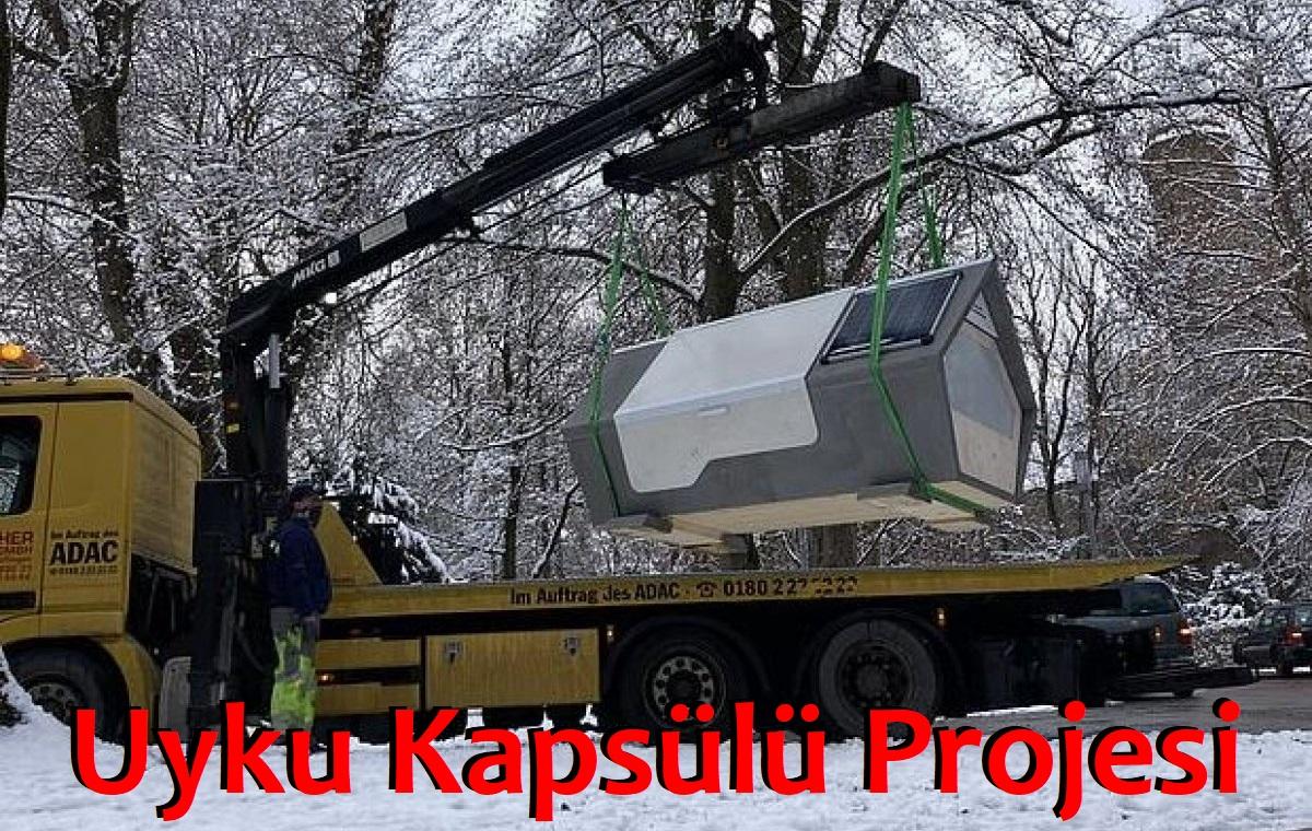 """Almanya'da Evsizler İçin Rüzgar ve Su Geçirmeyen Ev """"Uyku Kapsülü Projesi"""""""