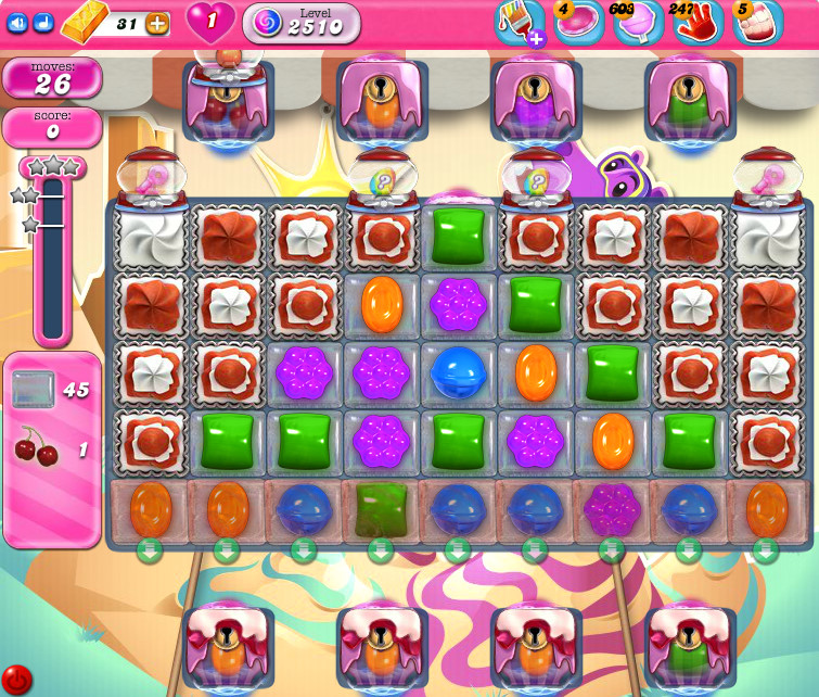Candy Crush Saga level 2510
