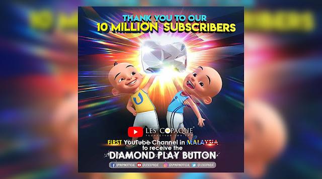Les' Copaque Merupakan Channel Youtube Malaysia Peroleh 10 Juta Subscriber