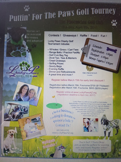 Golf Turnament for Lucky Paws