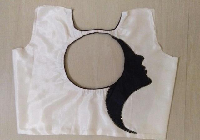 Women Face Reflation Blouse Design , Women Face Reflation Blouse Design blouse designs back side