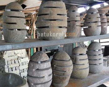 Lampion Kap Lampu Dari Batu Kali Hitam Jual Di Jakarta Bogor Depok Tangerang Bekasi Jual Batu Alam Murah Tangerang Dan Jakarta Batukoral Com