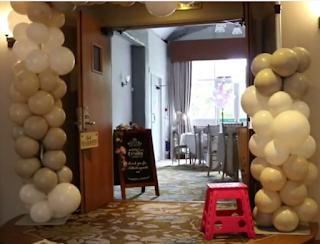 Ballonbogen zur Hochzeitsdekoration.